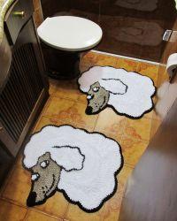 Kit Tapete Banheiro Poodle